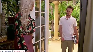 Jaw dropping German milf Nina Elle gets intimate with stepsons friend