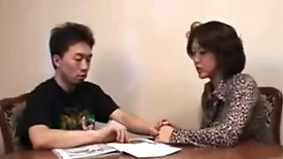 Asian Japanese Cougar Sex With Horny Man Uncensored