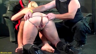 Perforated german milf impenetrable depths double anal fucked