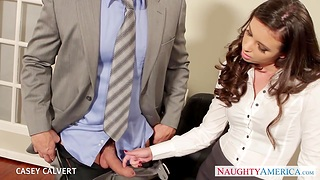 Strict sissified boss Casey Calvert is having sex relaxation with one of her favorite workers