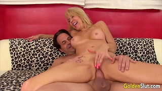 Cock hungry blonde age-old women find worthwhile taking hard dicks in pussy plus getting fucked good