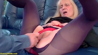 Saggy boobs 85 years old mom gets first time rough and deep doggystyle anal fuck