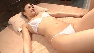 Oiled up ungentlemanly Wakana Nao pleases a load of shit with her mouth and pussy