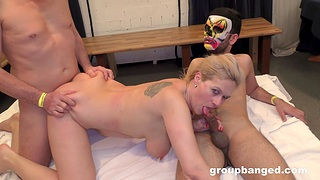 Inexpert gangbang at home close by a chubby and dirty mature tie the knot