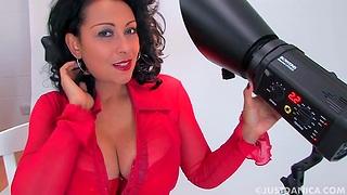 Amateur video of libellous mature Danica Collins having solo joke