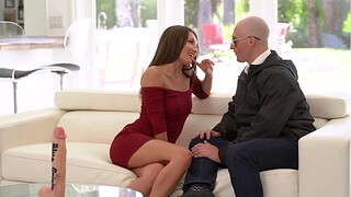 Cum swallowing babe Maya Woufle enjoys having sex with a stud