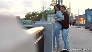 Amateur couple from St. Petersburg makes adulate like there's no tomorrow