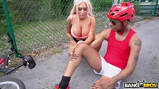 Whore wife Brandi Bae is cheating on her husband with young black guy