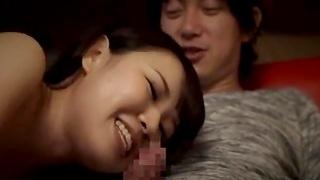 Kinky Japanese latitudinarian in lingerie gets her pussy pleasured. HD