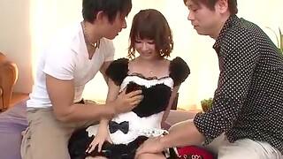 Yurika Miyachi, hot maid, fucked and made forth swallow jizz