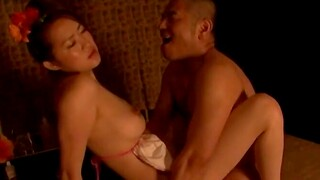 Naughty Japanese strengthen having rough carnal knowledge in their home in Japan