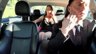 Cum in mouth after crazy fucking with busty cougar Bianca Fill up