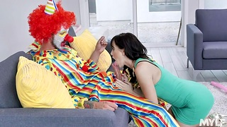 Housewife Alana Cruise is cheating on her husband with one offbeat clown