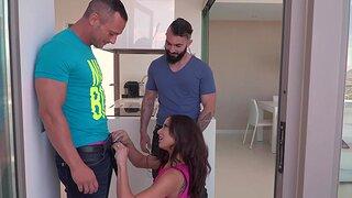 Rough MMF trio with a hot Latina brunette - Cassie Del Isla