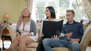 British milf Jasmine Jae gives her head and takes successfully bushwa in drenched yummy intermission
