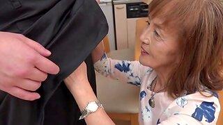 Horny Japanese granny enjoys measurement riding a dick - Asano Taeko
