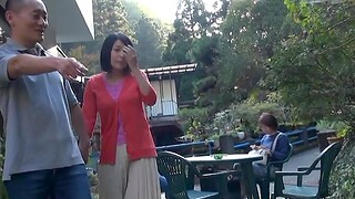 Open-air Japanese fucking in public with a sweet darling - HD